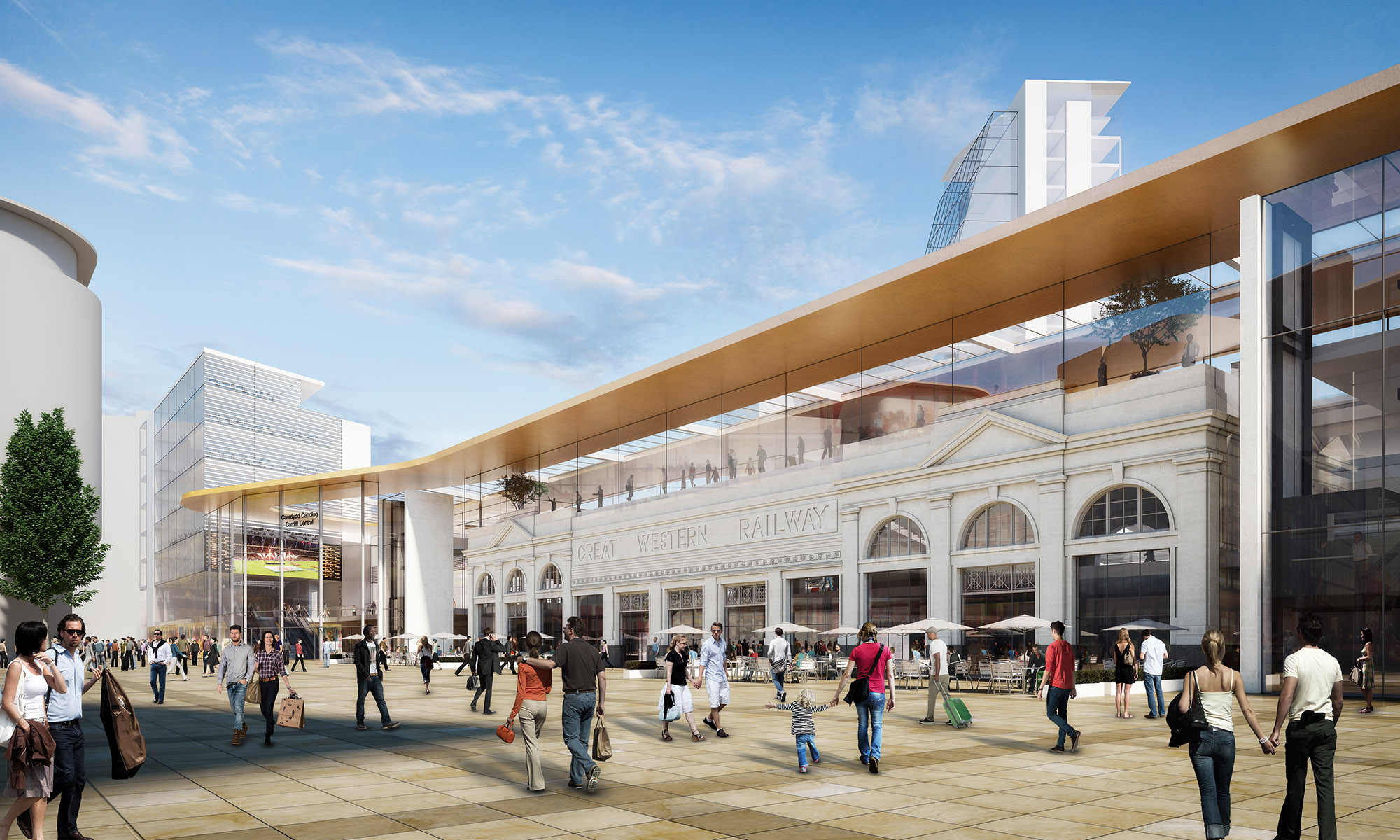 Cardiff Central CGI 3D Visualisation